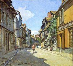 Claude Monet (French: 1840-1926) - The La Rue Bavolle at Honfleur - 1864
