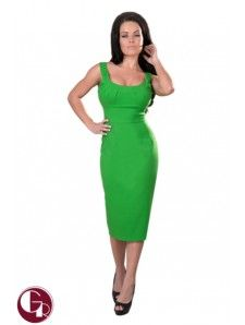 Sophia Retro Dress Green