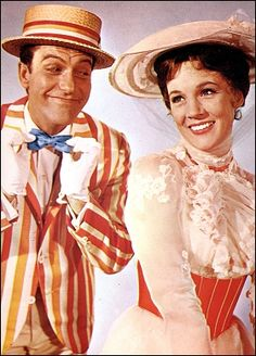 Dick van Dyke and Julie Andrews were by far the best pick for the role of Mary Poppins and Bert. Julie Andrews, Walt Disney, Disney Love, Disney Magic, Disney Films, Mary Poppins, Good Family Films, Great Movies, My Fair Lady