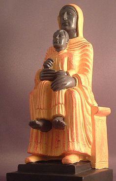Black Virgin of Marsat - Black Madonna with Child Statue