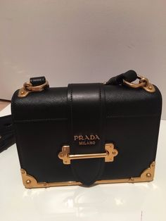 b663bbd31915 Details about New Authentic Prada Vitello Soft Women s Bag Brown Leather  Shoulder Bag - NWT