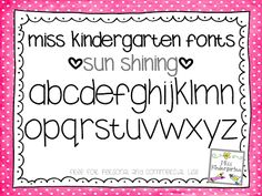 Miss Kindergarten: Fun Free Fonts!