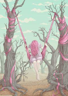Swing Girl by clocktowerman