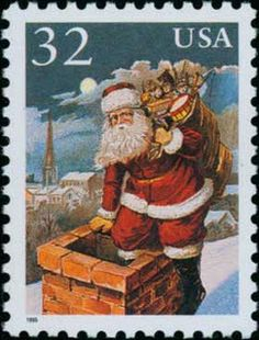 63 Best Christmas Stamps Images Vintage Christmas