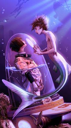 merman and human