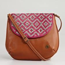 Geometric Woven Leather Bag, $165.00