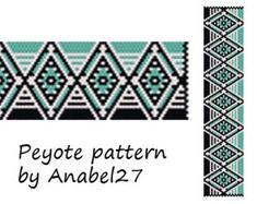 Peyote pattern beadwork wide peyote cuff por ColorfulBeadPatterns