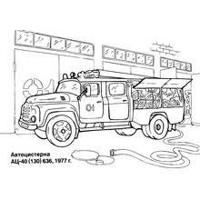 Dessin A Colorier Camion De Pompier Transport 17 Coloriages