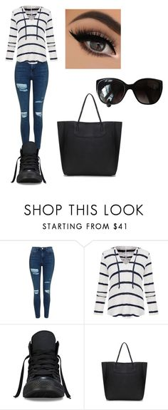 """Untitled #37"" by queen-of-hearts9991 ❤ liked on Polyvore featuring Topshop, Splendid, Converse and Chanel"