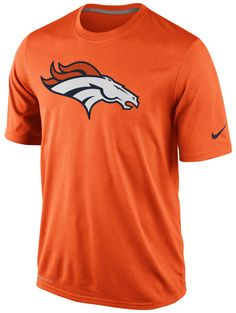NIKE NFL DENVER BRONCOS Mens Dri-Fit Legend Logo Orange Performance T-Shirt