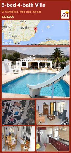 5-bed 4-bath Villa in El Campello, Alicante, Spain ►€325,000 #PropertyForSaleInSpain