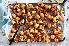 Crunchy popcorn cauliflower Veggie Snacks, Yummy Snacks, Healthy Snacks, Savory Snacks, Eat Healthy, Delicious Food, Cauliflower Popcorn, Tasty Cauliflower, Vegetarian Canapes