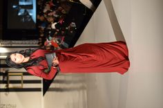 INAYAH on the #FashionFightingFamine 2013 #FFFShow #runway. Styled by Fashion Fighting Famine. #scarlet #red #longsleeve #abaya #dress