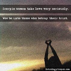 Scorpio women love trust - xstrology