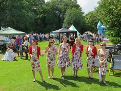Tootsie Rollers. Aynho Fete. 12-June 2016. It was a 'Right Royal Do'! (Thanks Les Horley, Aynho for image)