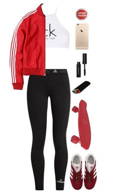 """""""Unbenannt #3077"""" by avonearth ❤ liked on Polyvore featuring adidas, Calvin Klein, Bobbi Brown Cosmetics and Trump Home"""