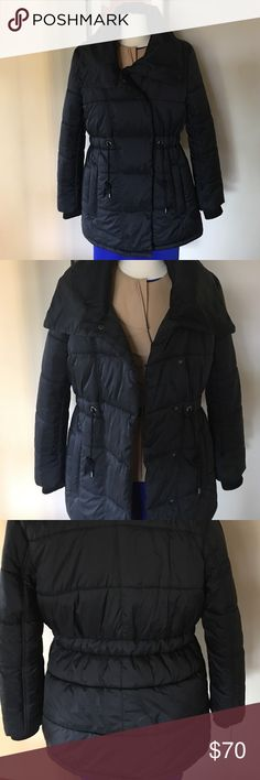 "NWOT 👌FRENCH CONNECTION Size 10 PUFFER CAOT Warm,beautifully styled,no zipper coat .2 side. pockets.?Long sleeves.About 30,5"" from shoulder to hem . French Connection Jackets & Coats Puffers"
