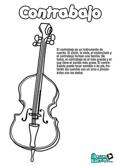 Pintas instrumentos musica CONTRABAJO, recursos educativos musica