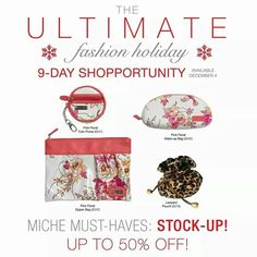 Day 3 Miche Shopportunity deals.  Order at https://sandrasgotmy.miche.com attach your order to the November party. Lots of great items visit my site.