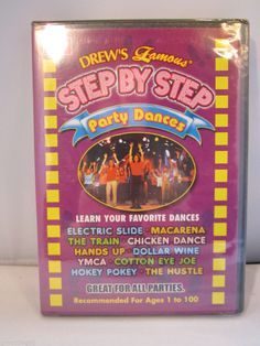 Drew's Famous Step By Step: Party Dances (DVD, 2003) OOP Brand New Free Shipping