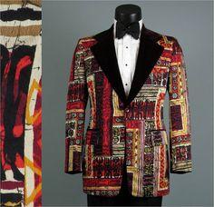 Vintage Men's 1960s 1970s Tuxedo Jacket  by jauntyrooster on Etsy, $350.00