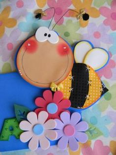 Rubber eva creative ideas for crafting - Colorful Decoration Kids Crafts, Foam Crafts, Diy And Crafts, Arts And Crafts, Paper Crafts, Country Paintings, Punch Art, Paper Piecing, Cute Art