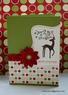 "Stampin' Up! stamp set ""Dasher"" by Kate Tobeck."