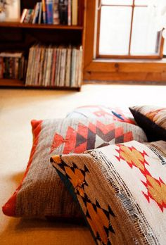 Kelim floor pillows