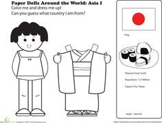 Thinking Day traditional celebration. Paper dolls from around the world different countries) Teaching Geography, World Geography, My Father's World, We Are The World, Around The World Theme, Around The Worlds, Harmony Day, World Thinking Day, Teaching Social Studies