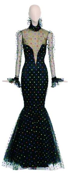 "BOB MACKIEJEWELED GOWN - Worn by Cher on Sonny & Cher Show 1974 for a performance of ""Dark Lady""."