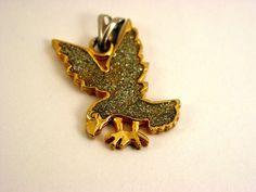 Vintage Glittery Eagle Pendant by SomeLittleStars, $4.00
