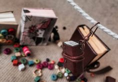 miniature books, earring design