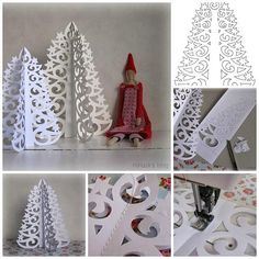 How to DIY Paper Christmas Tree from Template | www.FabArtDIY.com