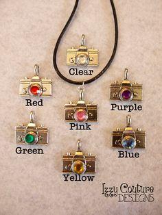 Purple! Camera Necklace. $5.00, via Etsy.