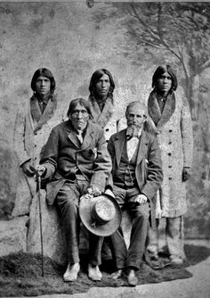 Quechan men including Pasqual (sitting on left) with an unidentified man - before 1887