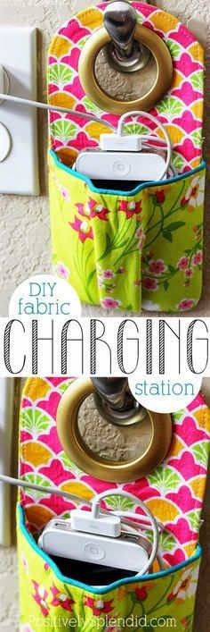Best Diy Projects: DIY Fabric Phone Charging Station   //   No pattern found.