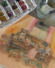 #children #kidsroom #illustration #watercolor #drawing #art #childrenillustration Watercolor Drawing, Drawing Art, Kidsroom, Children, Drawings, Illustration, Painting, Bedroom Kids, Young Children