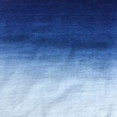 Indigo gradient terry