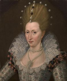 ca. 1605 Anne of Denmark by John de Critz (auctioned) | Grand Ladies | gogm