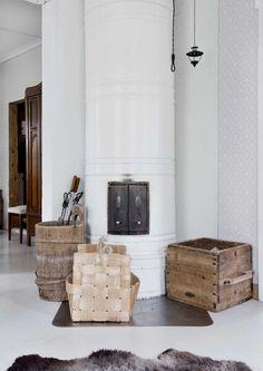 kuva Nordic Home, Scandinavian Home, Sweden House, Inglenook Fireplace, Country Interior, Home Decor Quotes, Interior Decorating, Interior Design, Transitional Decor