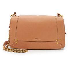 Jerome Dreyfuss Bobi Shoulder Bag (2.540 BRL) ❤ liked on Polyvore featuring bags, handbags, shoulder bags, nude, real leather handbags, nude purses, zipper purse, leather shoulder handbags and leather shoulder bag