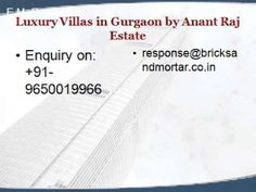 The Luxe Life by @Anant Raj Estate Villas@9650019966 !! Villlas in Gurgaon