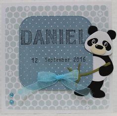 Gemaakt door Joke # babykaart Daniel geboren