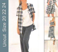 McCall's+8178+Uncut+Sewing+Pattern+Misses+Dress+Jacket+Pants+Shorts+Size+20+22+24