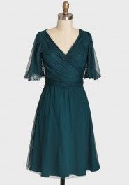 champagne indie party dress by Effie's Heart in teal