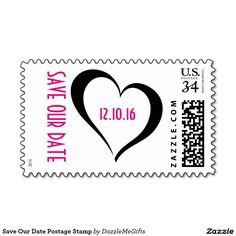 Save Our Date Postage Stamp