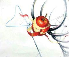 사과, 스프링, 집게 -미대입시