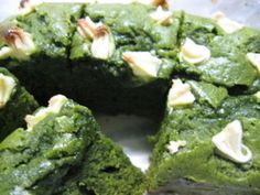 Matcha Green tea Brownies=Japanese recipe by Da Washoku Kitchen | CookMap.com