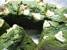 Matcha Green tea Brownies=Japanese recipe by Da Washoku Kitchen   CookMap.com