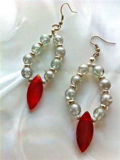 Red n Pearl Earrings  $16.00 on mjcali1048@hotmail.com